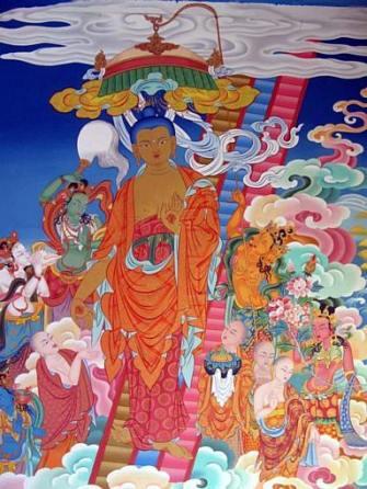 Buddhas descent Lhabab Duchen